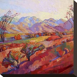 Ocotillo Triptych (center) Stretched Canvas Print by Erin Hanson