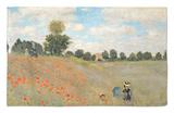 Amapolas silvestres cerca de Argenteuil (Les Coquelicots: Environs D'Argenteuil), 1873 Alfombrilla por Claude Monet