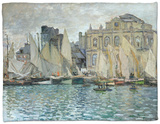 View of Le Havre, 1873 Fleece Blanket by Claude Monet