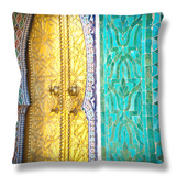 Royal Palace Door, Fes, Morocco Throw Pillow by Doug Pearson