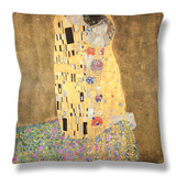 The Kiss, 1907-08 Throw Pillow by Gustav Klimt