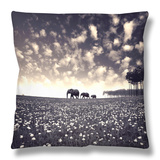 Manada Throw Pillow by Luis Beltran