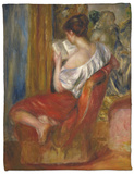 Reading Woman, circa 1900 Fleece Blanket by Pierre-Auguste Renoir