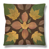Kaleidoscope Leaves II Throw Pillow by  Vision Studio