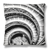 Spiral Staircase Throw Pillow by Andrea Costantini