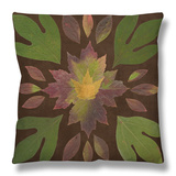 Kaleidoscope Leaves I Throw Pillow by  Vision Studio