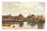 View of Delft, about 1660 Rug by Jan Vermeer