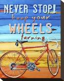 Never Stop Leinwand von Danny Phillips