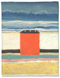 Red House, 1932 Fleece Blanket by Kasimir Malevich