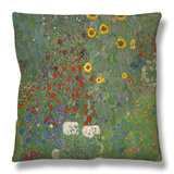 Sunflowers, 1912 Throw Pillow by Gustav Klimt