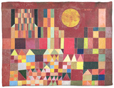 Castle and Sun, 1928 Fleece Blanket by Paul Klee