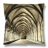 Salisbury Arches Throw Pillow by Judith Bartos