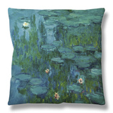 Water Lilies Throw Pillow by Claude Monet