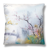 Lovers at Chi Tou Throw Pillow by Chi Wen