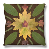 Kaleidoscope Leaves IV Throw Pillow by  Vision Studio