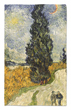 Road with Cypresses, c.1890 Rug by Vincent van Gogh