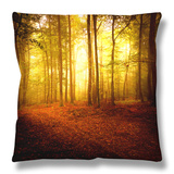 The Smell of Autumn Throw Pillow by Philippe Sainte-Laudy