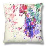 Uma Thurman Pulp Fiction Throw Pillow by  NaxArt