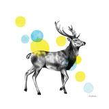 Sketchbook Lodge Stag Posters by Lamai McCartan