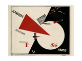Beat the Whites with the Red Wedge Giclee Print by El Lissitzky