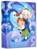 Warm Hug for Olaf Edición limitada en lienzo por Tim Rogerson