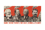 Higher Raise the Banner of Marx, Engels, Lenin and Stalin! Giclee Print by Gustav Klutsis