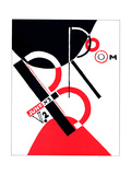 "Cover for the Magazine ""Broom"" Giclee Print by El Lissitzky"