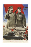 Long Live to the Working and Peasant Red Army — a Faithful Guard of the Soviet Borders! Giclee Print by Gustav Klutsis