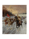 The Siberian Gold Convoy Giclee Print by Adolf Baumgartner-Stoiloff
