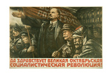 Glory to the Great Socialist Revolution! Giclee Print by V. Kuznetsov