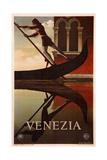Venetsia Giclee-vedos tekijänä Adolphe Mouron Cassandre