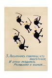 Generals Tearing Republic into Pieces Giclee Print by Vladimir Vasilyevich Lebedev