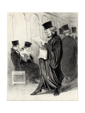 Lawyer Chabotard While Reading in a Legal Journal a Eulogy on Himself… Giclee Print by Honoré Daumier