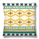 Southwest Geometry III Throw Pillow by Erica J. Vess