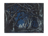 Stage Design for the Ballet Giselle by A. Adam Giclee Print by Alexander Nikolayevich Benois