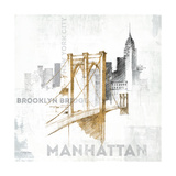 Brooklyn Bridge, New York Giclée-Premiumdruck von Avery Tillmon