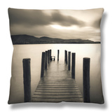 Barrow Bay, Derwent Water, Lake District, Cumbria, England Throw Pillow by Gavin Hellier