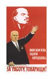 To Work, Comrades! Giclee Print by Boris Naumovich Belopolsky