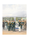 The Leib Guards in Peterhof Giclee Print by Pyotr Ivanovich Balashov