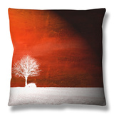 Sensation in Red Throw Pillow by Philippe Sainte-Laudy