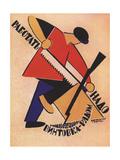Workers Keep Your Rifles Within Hands Reach! Impression giclée par Vladimir Vasilyevich Lebedev