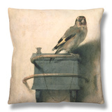 The Goldfinch, 1654 Throw Pillow by Carel Fabritius