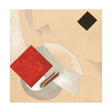 "Study (For the ""Story of Two Quadrats) Impressão giclée por El Lissitzky"