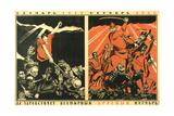 October 1917 - October 1920. Long Live the Worldwide Red October! Giclee Print by Dmitri Stachievich Moor
