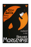 Wittwe Dalila in Der Berliner Morgenpost Giclee Print by Edmund Edel