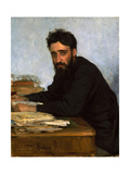 Portrait of the Author Vsevolod M. Garshin (1855-1888) Giclee Print by Ilya Yefimovich Repin