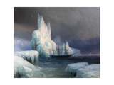 Icebergs in Antarctica Giclee Print by Ivan Konstantinovich Aivazovsky