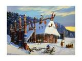The Temple of Znicz, God of Winter Giclee Print by Vsevolod Borisovich Ivanov