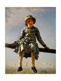 Dragonfly. Painter's Daughter Portrait Giclee Print by Ilya Yefimovich Repin