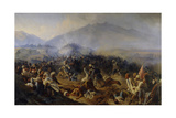The Siege of Akhty on 1848 Giclee Print by Polidor Ivanovich Babaev